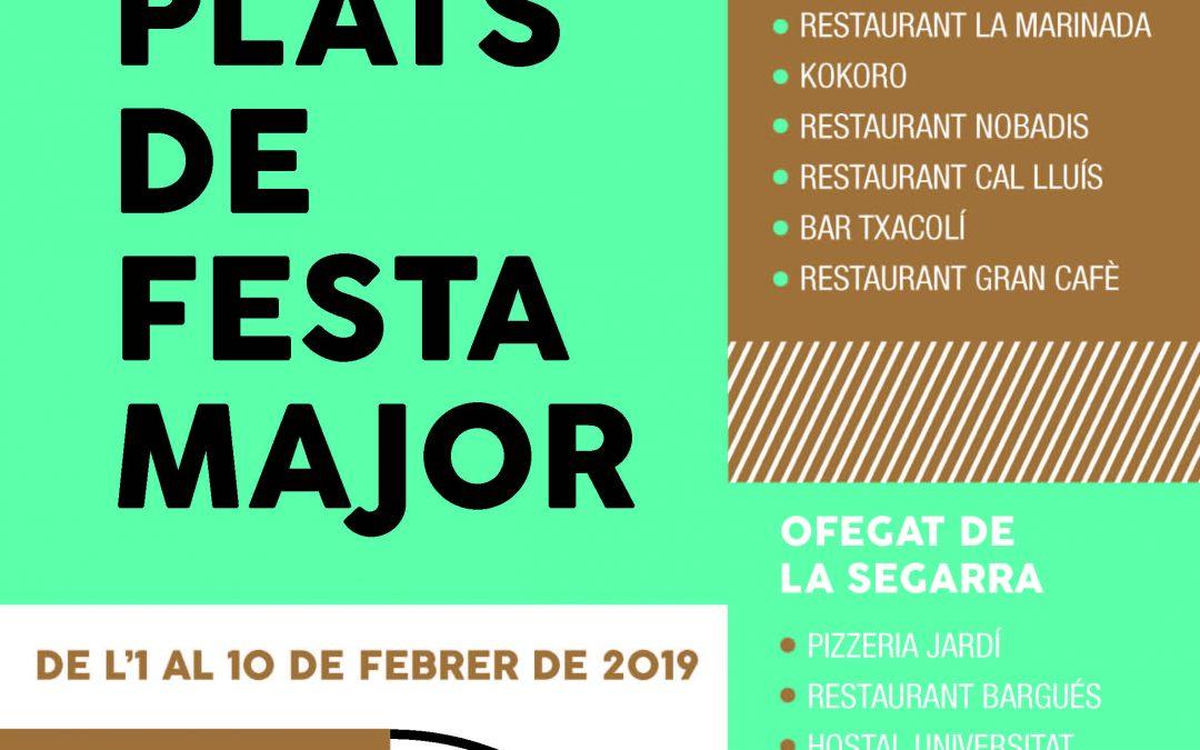 Plats de Festa Major en dotze restaurants de Cervera