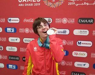 Vero Torra, plata als Special Olympics Abu Dhabi 2019