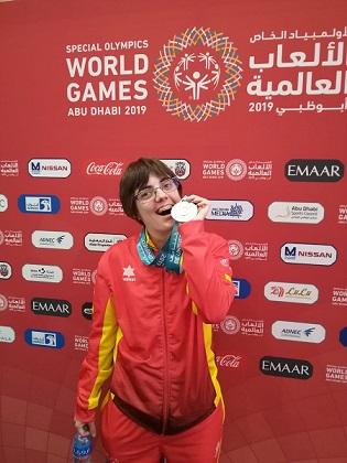 vrai Torra, plata als Special Olympics Abu Dhabi 2019
