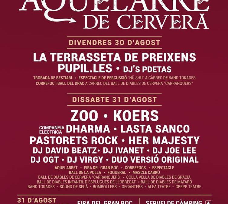 The Aquelarre 2019 presents the music program