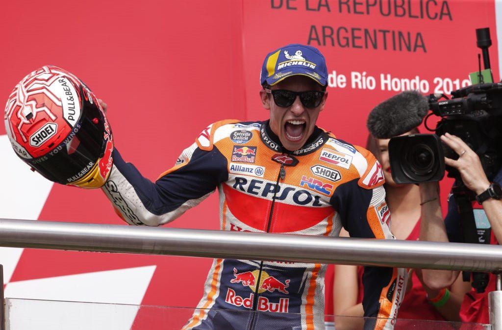 Victòria en solitari de Marc Márquez al GP de l'Argentina