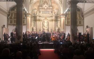The past 17 April held at the Auditorium of the University the first concert of the new series of Spring organized by the Association of Friends of Music of Cervera. This time the concert culminated exchange that Jugendorchester-city Oldenburg Germany over 160.000 inhabitants- and the Orchestra of the Conservatory Andreví have done these days.