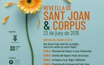 Música, foc i danses ompliran els carrers de Cervera per la celebració del Corpus i la revetlla de Sant Joan