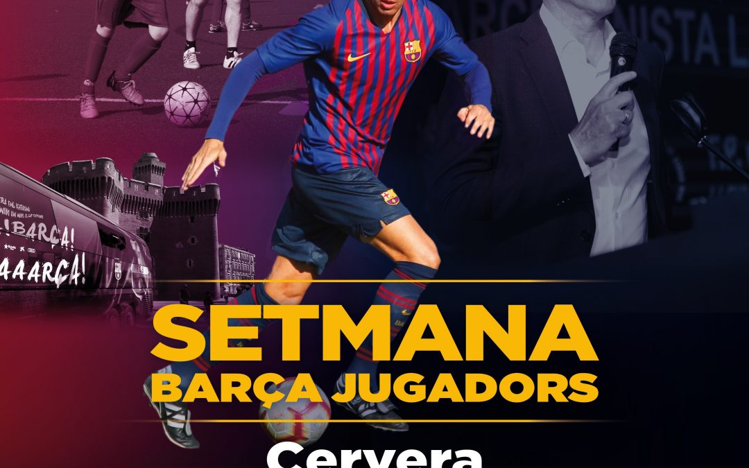Week Barça players in Cervera