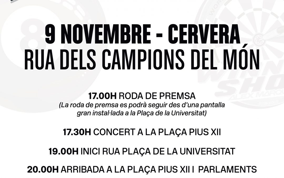 Cervera big party to honor the world champions motorcycling Alex and Marc Márquez