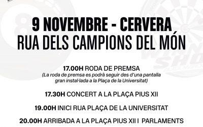 Festa grossa a Cervera per homenatjar els campions del món de motociclisme Àlex i Marc Márquez