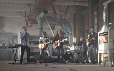 El grupo de Cervera Nativo registra un videoclip en la Farinera