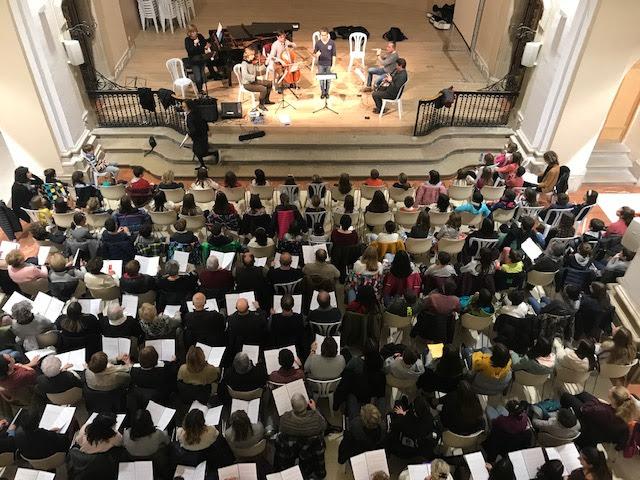 L'Agrupació Coral de Cervera prepara el concert conjunt que oferirà al Petit Palau de Barcelona