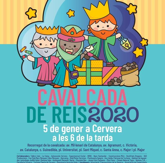 Sunday 5 January, them 18 hours, the Three Kings arrive in Cervera, which will make its usual route through the city, Avenue Millennium·lenari of Catalonia Plaza Mayor.