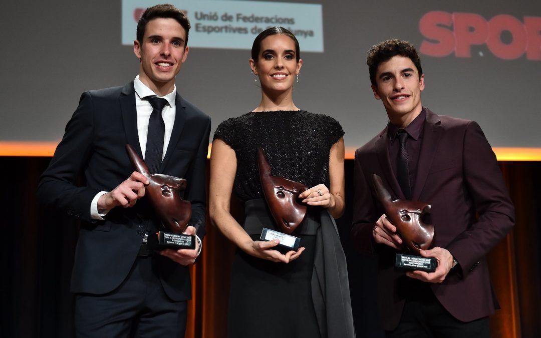 Los hermanos Marc y Alex Márquez reciben el premio a los mejores deportistas masculinos catalanes del año 2019