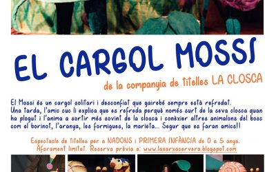 """Show """"The worm screw and Mossi"""" , Puppets with shell"""