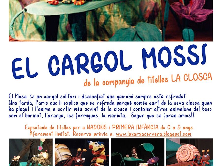 "Show ""The worm screw and Mossi"" , Puppets with shell"