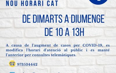 NUEVO HORARIO CAT