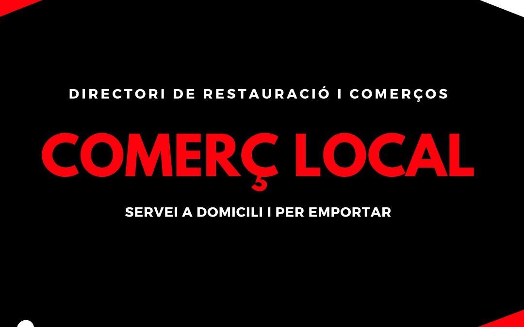 Actualitació del Directorio de Establecimientos que Ofrecen Servicio para Llevar y / o a Domicilio.