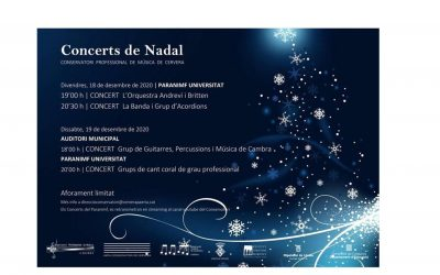 The Conservatory organizes Christmas concerts adapted to the new times