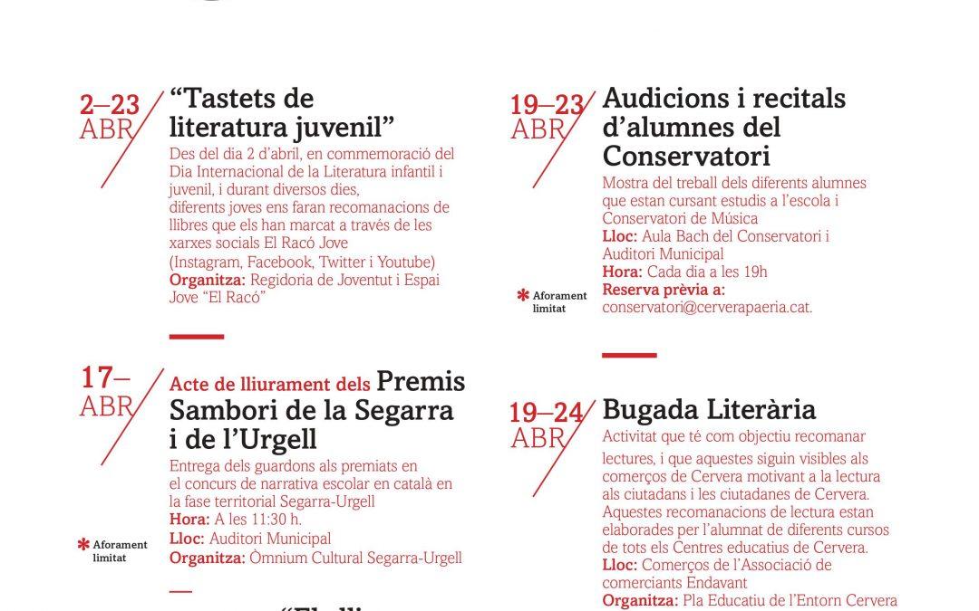 Cultural week of Sant Jordi in Cervera